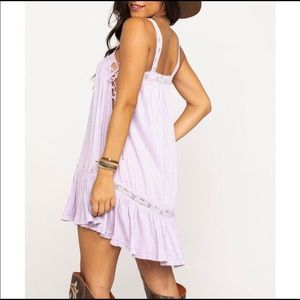 Free People Lavender Boho Tunic Chic Dress Small